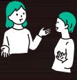 立ち話をする女性